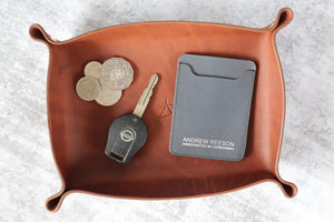 Valet Tray - Bovine Leather - Golden Brown