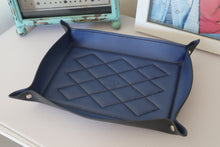 Load image into Gallery viewer, Valet Tray - Kangaroo Leather - Coastal Blue