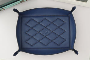 Valet Tray - Kangaroo Leather - Coastal Blue