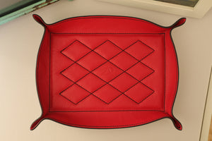 Valet Tray - Kangaroo Leather - Red