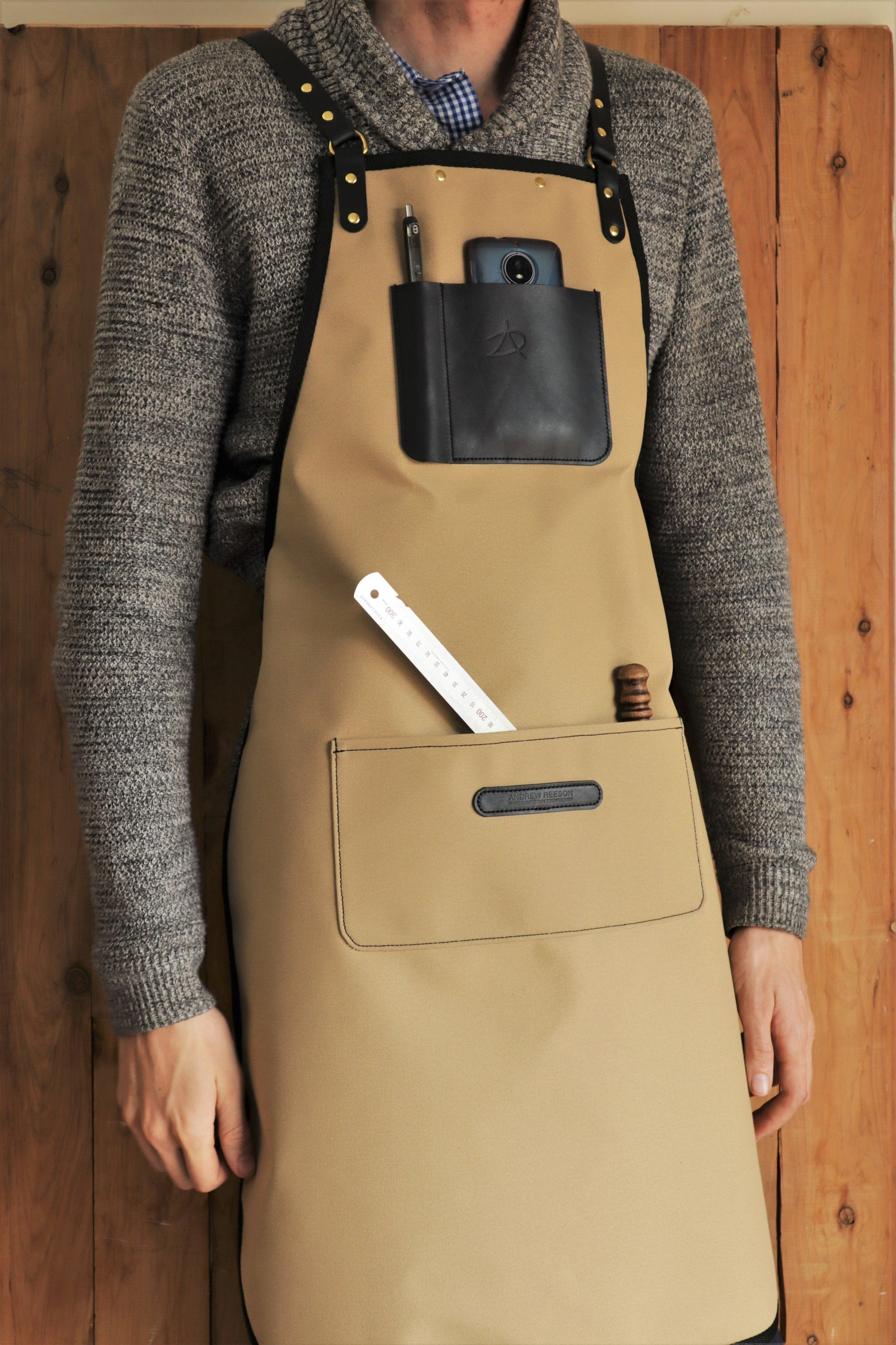 Apron - Sand and Golden Brown
