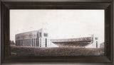 Ohio's Praise Framed Fine Art - Espresso Walnut Wood Frame - Ohio Stadium