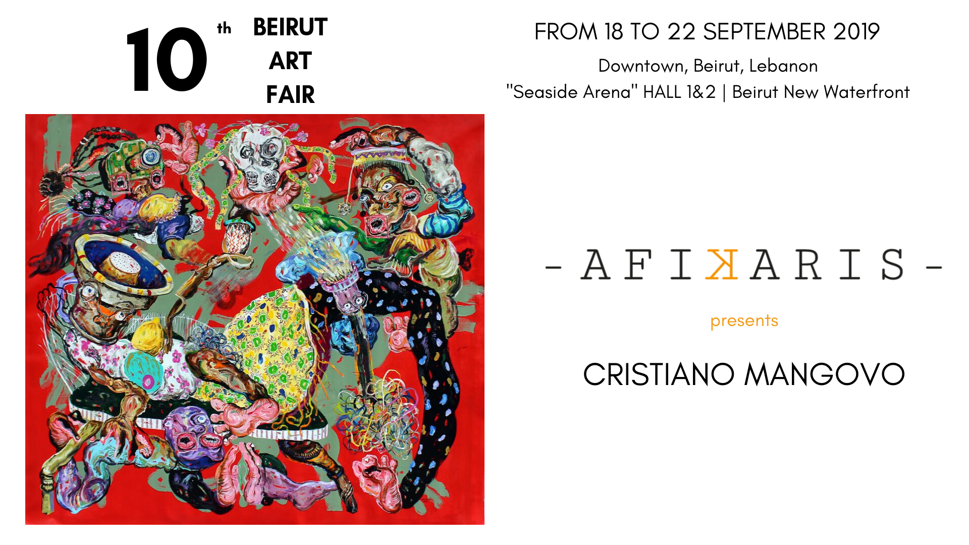 Afikaris at the 10th Beirut Art Fair 2019 in Lebanon