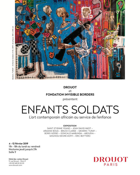 """Enfants Soldats"" exhibition at Drouot"
