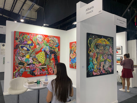 Afikaris at the 10th Beirut Art Fair presenting Cristiano Mangovo's recent work