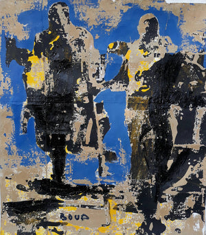 Street kids representation by the Ivory Coast artist Armand Boua, curated by Christies and considered as one of the most promising African contemporary artists.