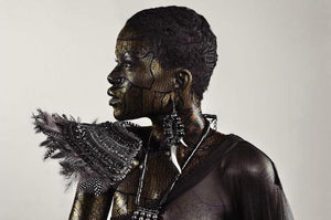 "Àsìrì alàdìre by Asiko. Nigerian photographer born in London. 76x51cm, metallic printing. Artwork for sale on Afikaris. From ""The woman code"" series."