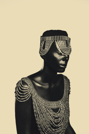 "Edo by Asiko. Nigerian photographer born in London. 76x51cm, metallic printing. Artwork for sale on Afikaris. From ""Adorned"" series. Best price."