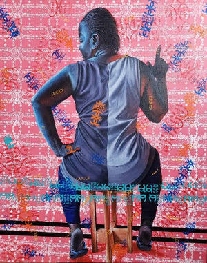 One of me, 100x80cm. Acrylic on canvas by Anjel (Boris Anje). Contemporary artist born in 1993 in Cameroon. For sale online on Afikaris.