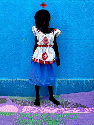 The princess of Swallows ACT1 . Hand-painted (unique) photography, from The shadowed people series. By Saidou Dicko, a contemporary artist from Burkina Faso.