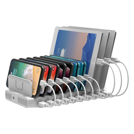 10 Port Home School Office USB Charger