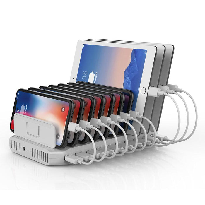 10 Port USB Charging Station 60W
