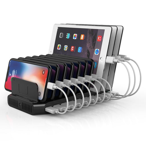 10 Port iPhone iPad Charging Station 60W