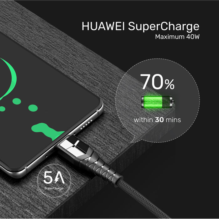 Flash-GO 5A SuperCharge USB 2.0 to USB-C Fast Charging Cable