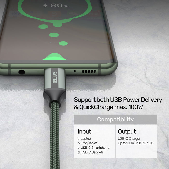 Full-Featured USB-C Cable With 4K 60Hz, 10Gbps Data & PD 100W
