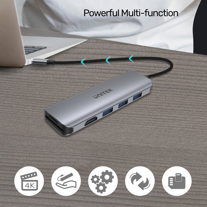 uHUB P5+ 6-in-1 USB-C Hub with HDMI