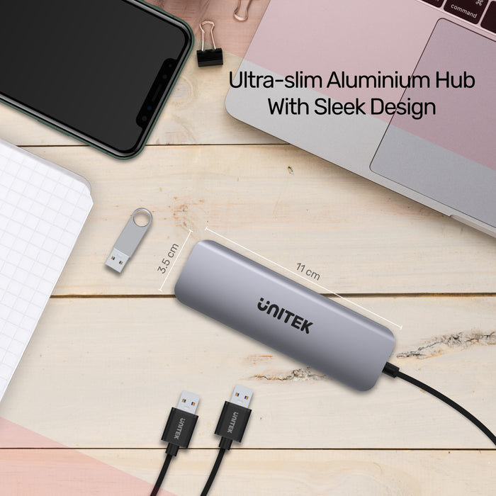 uHUB P5+ 5Gbps 5-Port Aluminium Hub (With HDMI & Card Readers)