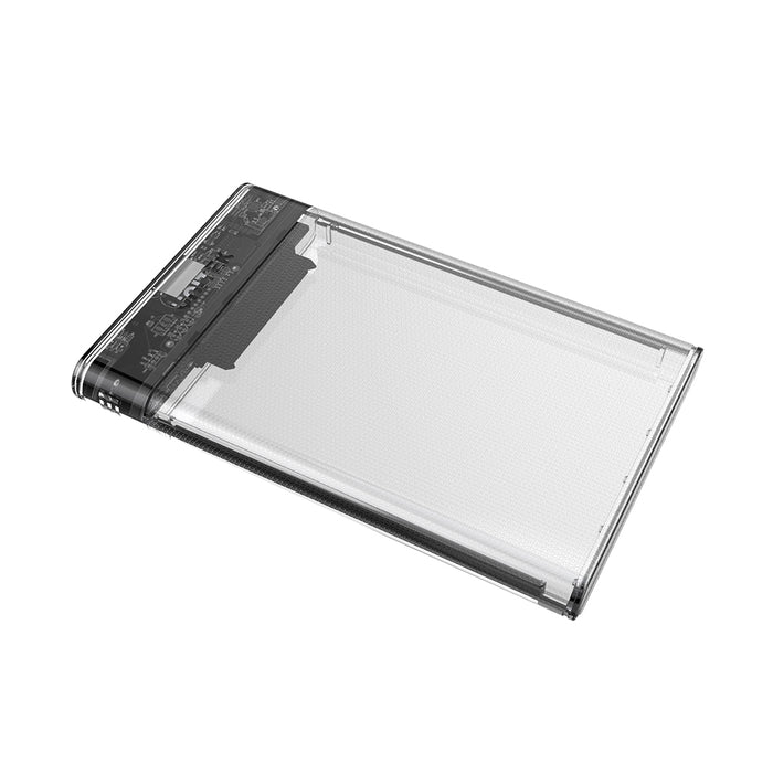 LILIERS 2.5 inch Transparent USB3.0 to Sata 3.0 HDD Case Tool Free 5 Gbps Support 2TB UASP Protocol Hard Drive Enclosure