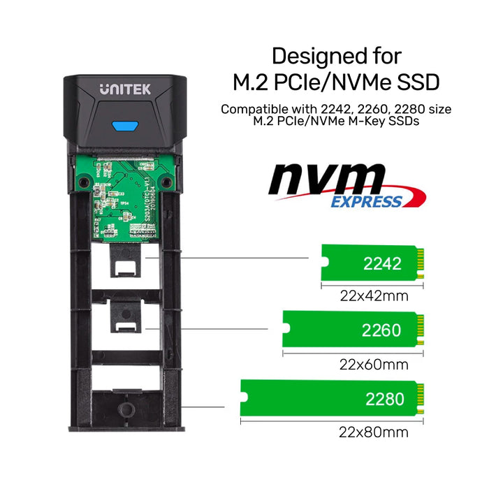SolidForce PCIe/NVMe M.2 SSD 10Gbps Enclosure Lite