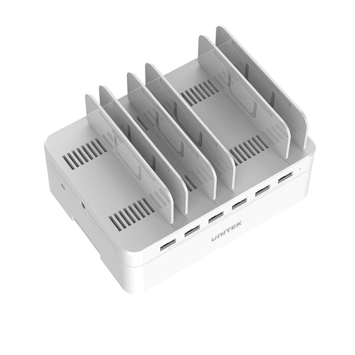 60W 6-Port USB Smart Charging Station