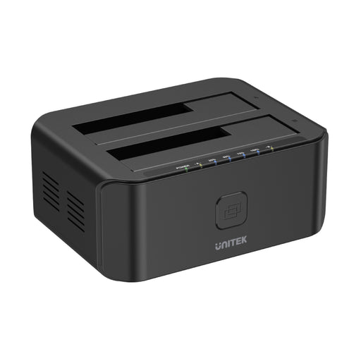 USB 3.0 to SATA III Dual Bay HDD/ SSD Docking Station with UASP & Offline Clone in Black
