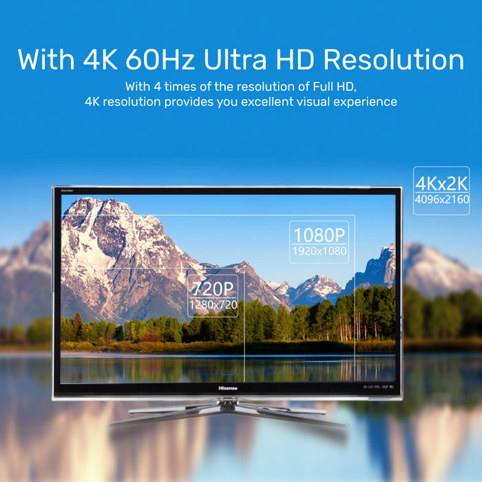 4K 60Hz USB-C to DisplayPort 1.2 Adapter