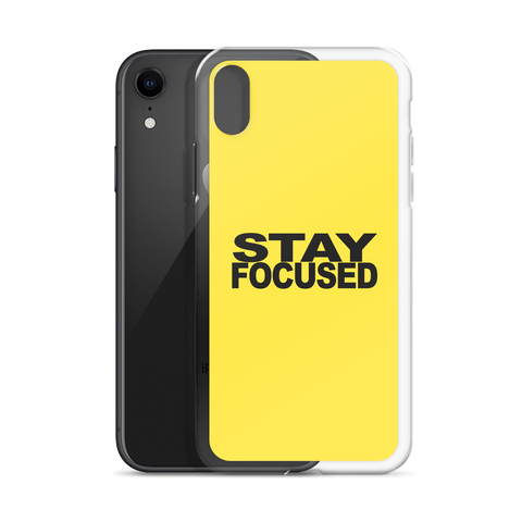 STAYFOCUSED Yellow Edition iPhone Case