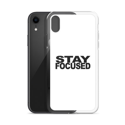 STAYFOCUSED White Edition iPhone Case