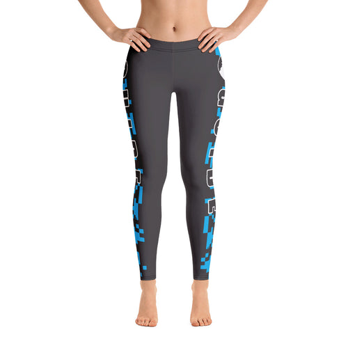 Guide Leggings: Camo Blue