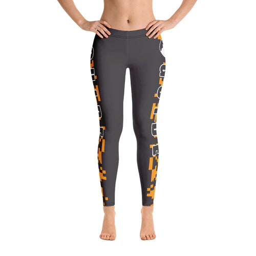 Guide Leggings: Camo Orange