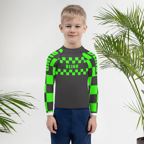Kids INDY Rash Guard: Green