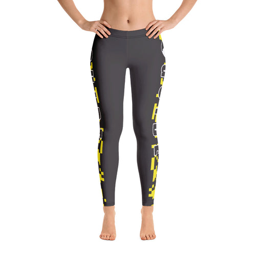 Guide Leggings: Camo Yellow