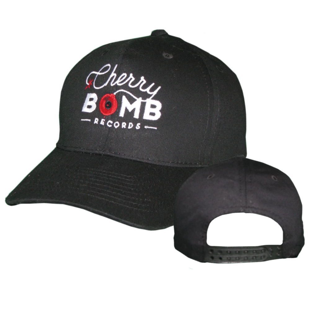 Cherry Bomb Records Black Logo Hat