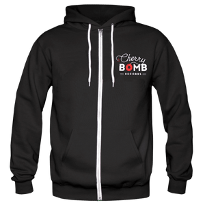 Cherry Bomb Records Black Logo Zip Hoodie