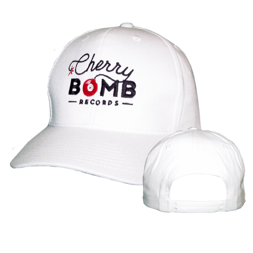 Cherry Bomb Records White Logo Hat
