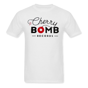 Cherry Bomb Records White Logo Tee