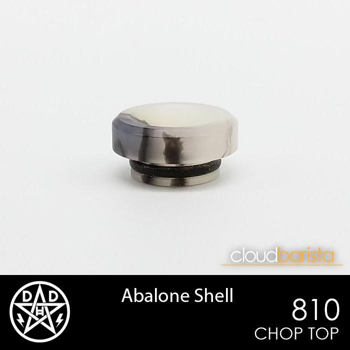 Chop Top - 810 Drip Tips Double Helix Designs Abalone Shell
