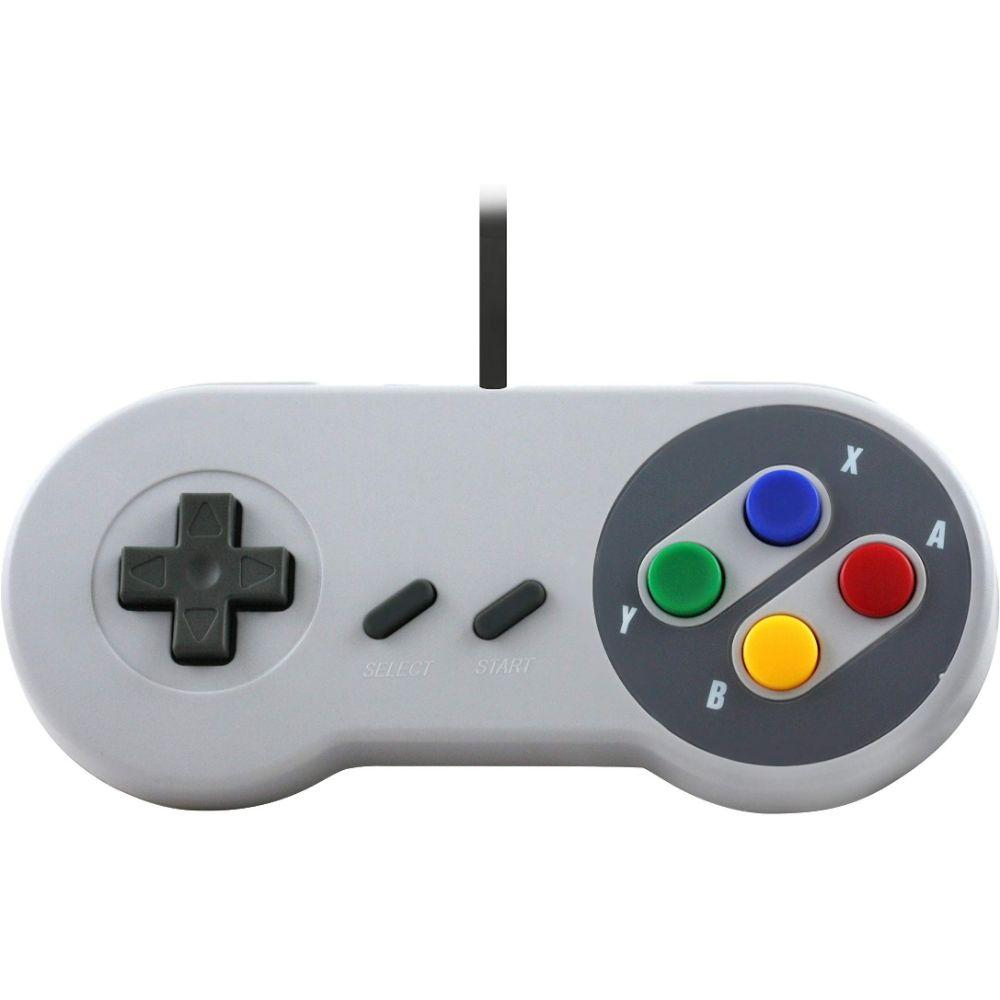 TTX SNES - Controller - Wired - Super Famicom Style - Grey - Retail Packaging