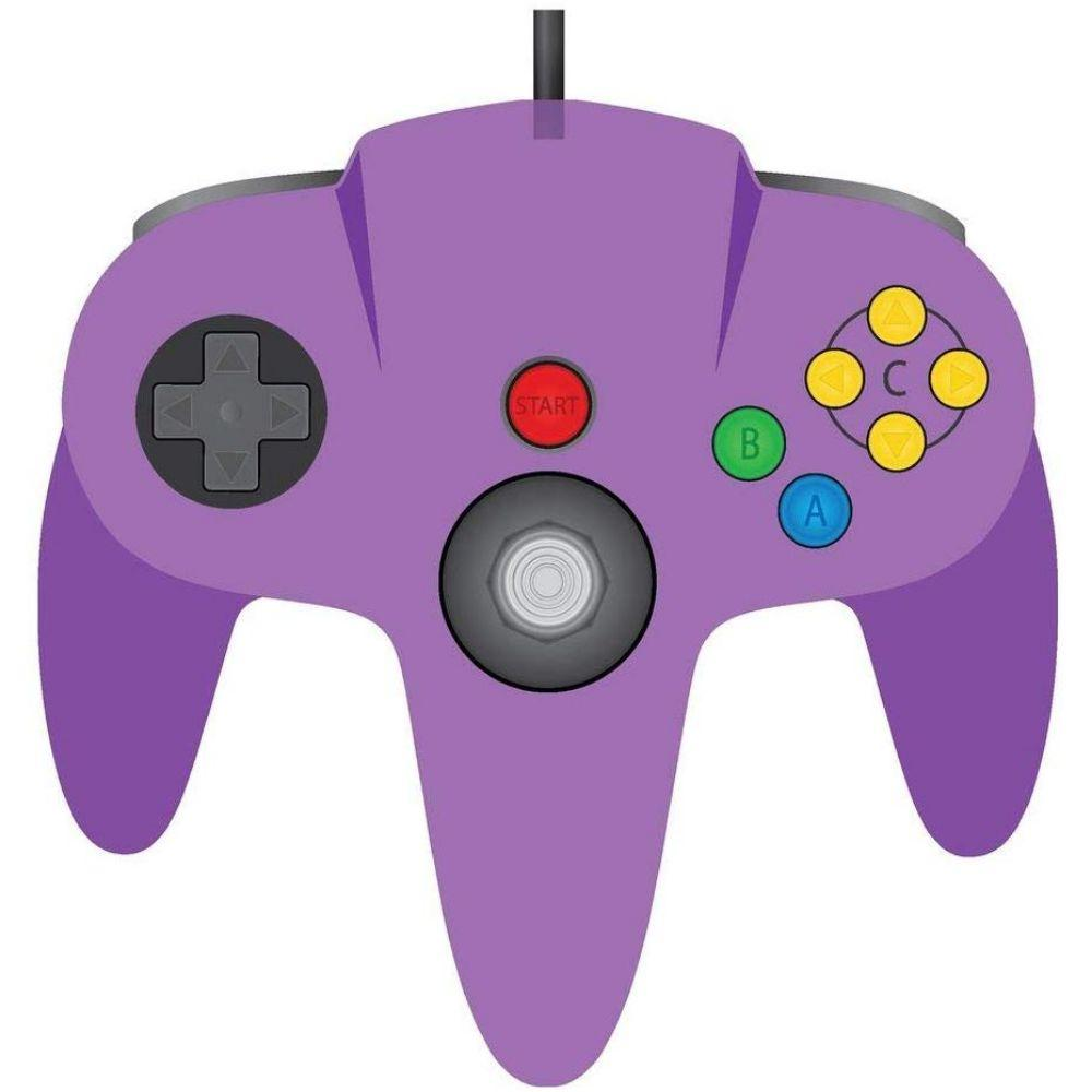 TeknoGame Wired N64 Controller, Clear Purple