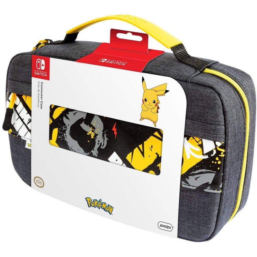 PDP Nintendo Switch Pokemon Pikachu Commuter Case Compatible with Switch and Switch Lite, 500-164