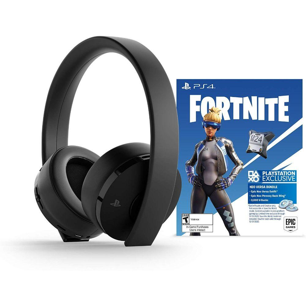 PlayStation Gold Wireless Headset Fortnite - PlayStation 4