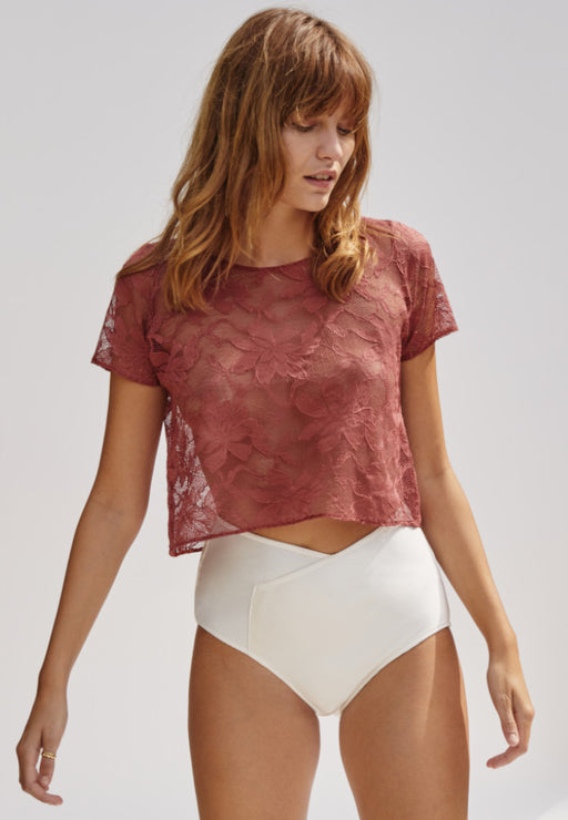 TEE-SHIRT BLUSH LACE