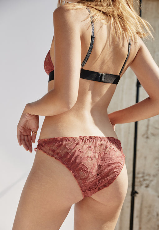 CULOTTE FRONCEE BLUSH LACE