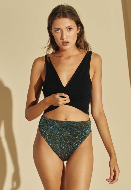 Culotte Haute Shiny Green