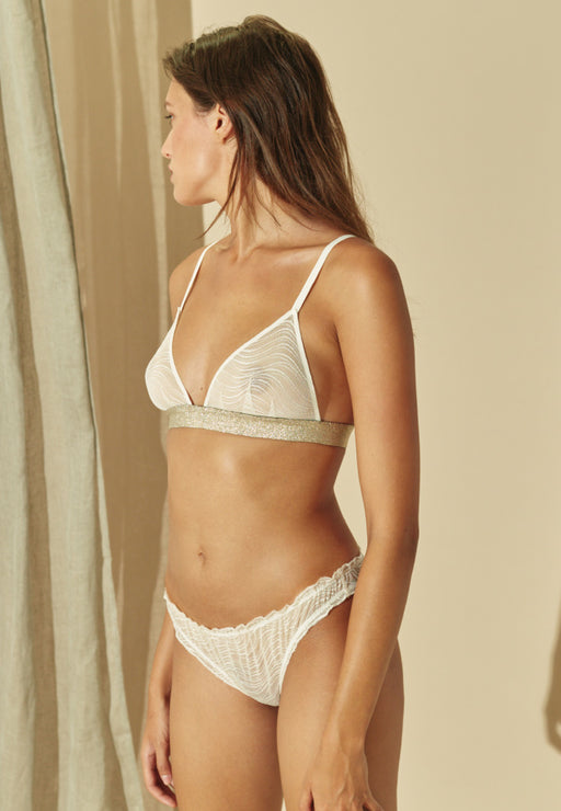 Culotte froncée Cream Waves