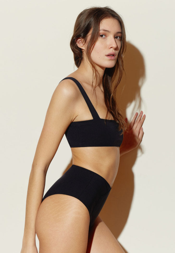 CULOTTE HAUTE MAILLOT BLACK STRIPES