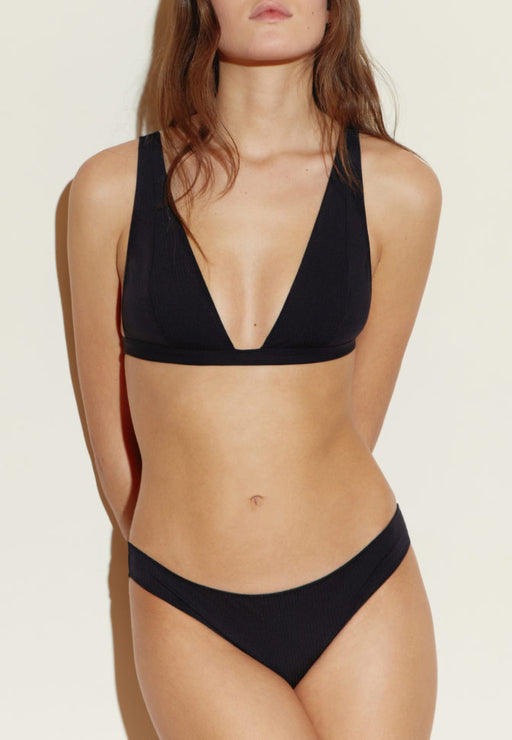TRIANGLE MAILLOT BLACK STRIPES
