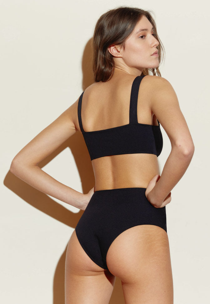 BANDEAU MAILLOT BLACK STRIPES