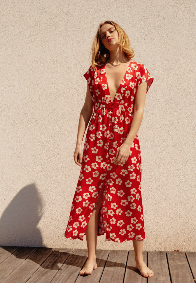 Robe Poppy Flowers