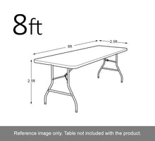 Load image into Gallery viewer, 1 Custom TableClothes -Clamps Inluded- Full Color 4 sides.